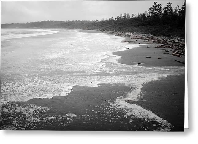 Winter At Wickaninnish Beach Greeting Card