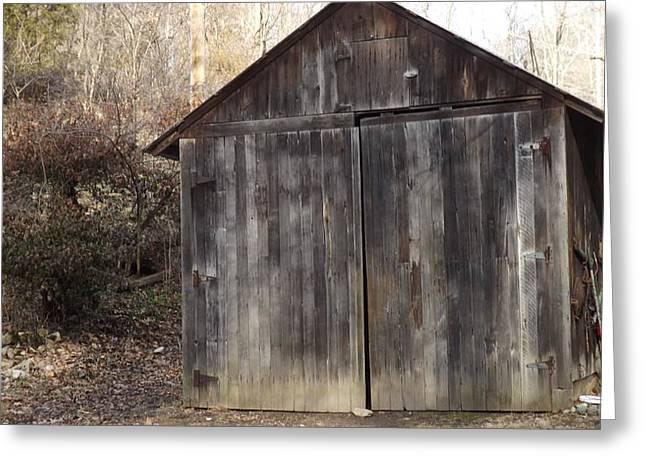 Shovel Garage Greeting Card by Don Koester