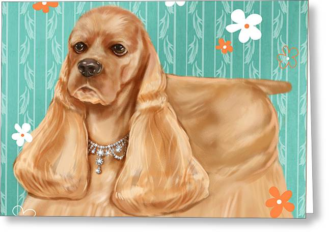 Show Dog Cocker Spaniel Greeting Card