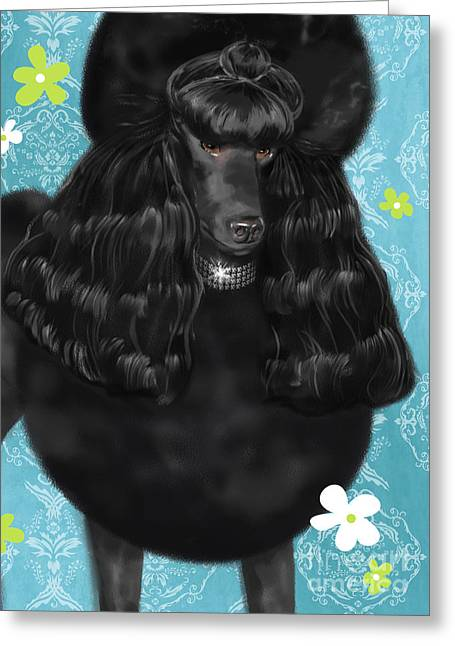 Show Dog Poodle Greeting Card by Shari Warren