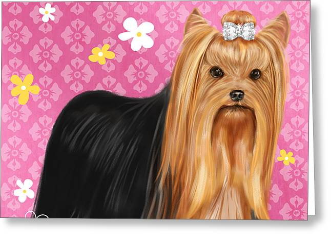 Show Dog Yorkshire Terrier Greeting Card