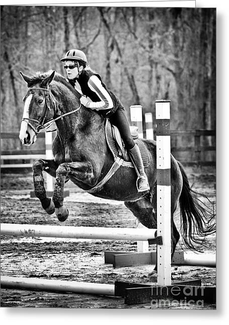 Show Horse Jumping  Greeting Card