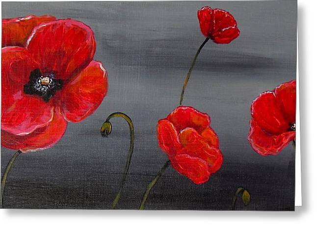 Show Off Poppies Greeting Card by Melissa Torres