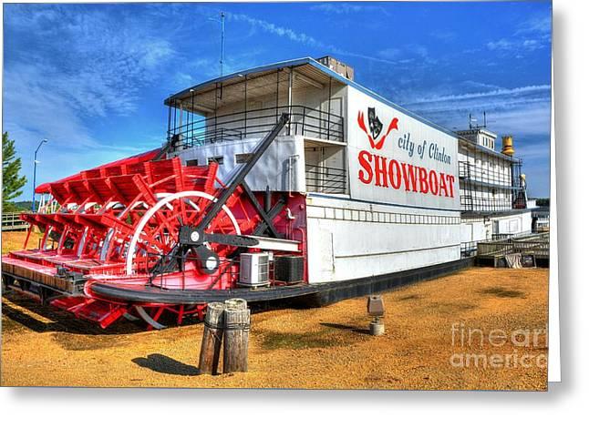 Showboat Big Wheel Greeting Card