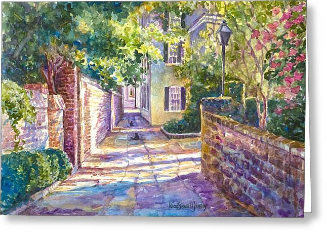 Showdown In Price's Alley Greeting Card by Alice Grimsley