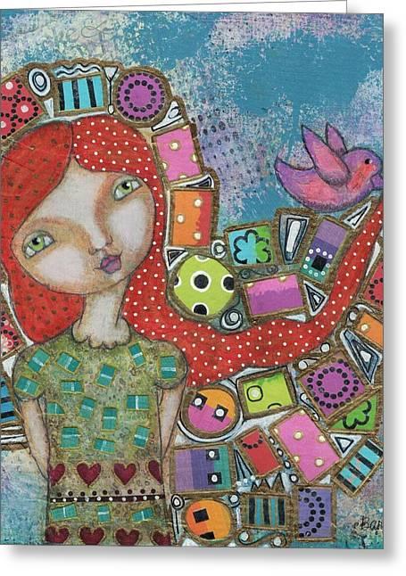 Showered With Gifts Greeting Card by Barbara Orenya