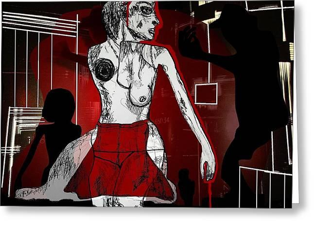 Showgirl Greeting Card by Franziska Kolbe