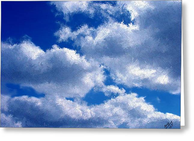 Shredded Clouds Greeting Card