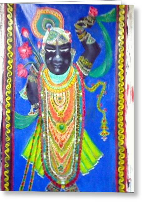 Shreenathji Greeting Card by M Bhatt