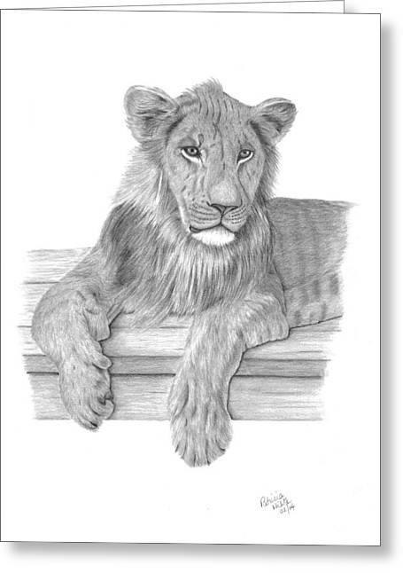 Strek The Future King Greeting Card by Patricia Hiltz