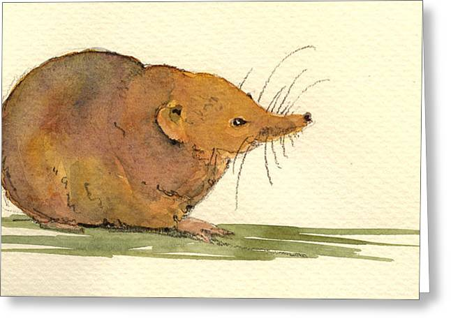 Shrew Greeting Card by Juan  Bosco