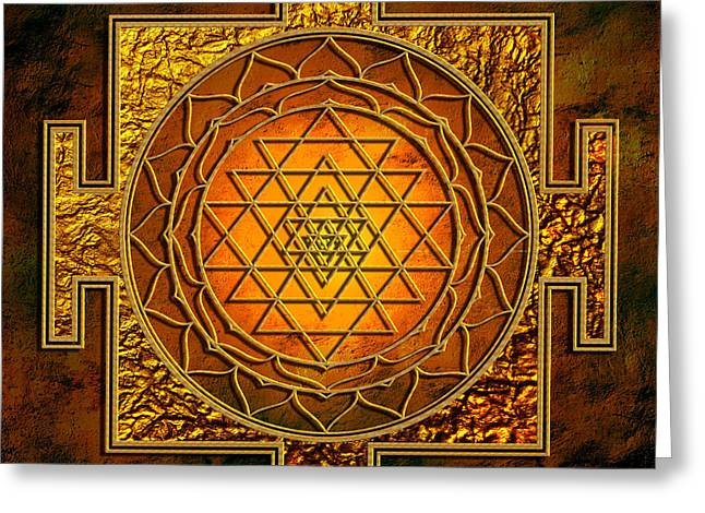 Shri Yantra Gold Lakshmi Greeting Card