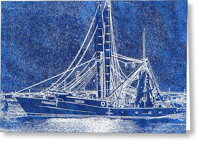 Shrimp Boat - Dock - Coastal Dreaming Greeting Card by Barry Jones