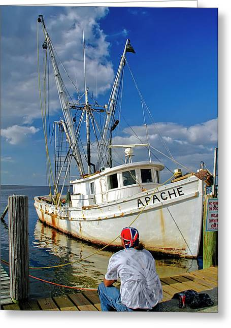 Shrimp Boat Greeting Card
