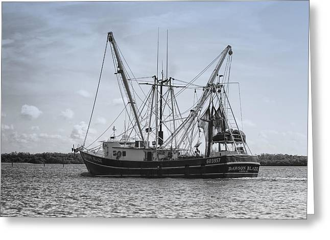 Shrimp Boat - Matanzas Pass Greeting Card by Kim Hojnacki