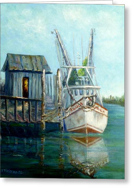 Shrimp Boat Paintings Greeting Card