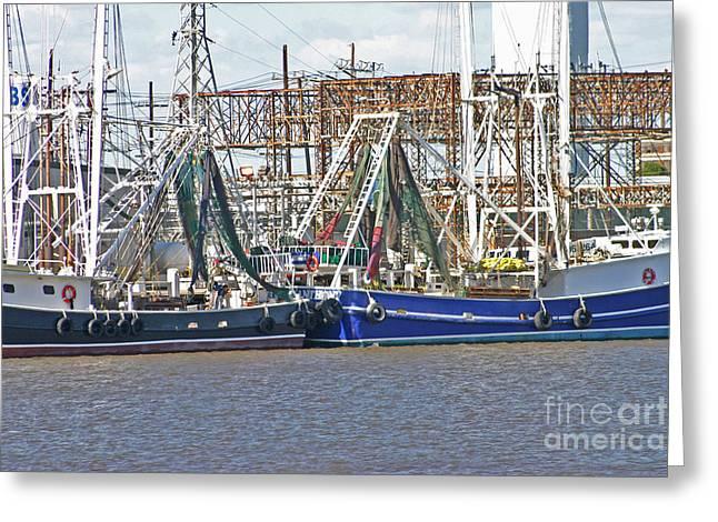 Shrimp Boats 1 Port Arthur Texas Greeting Card