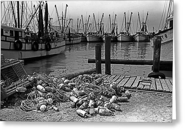 Shrimp Boats In Key West Greeting Card by Thomas D McManus