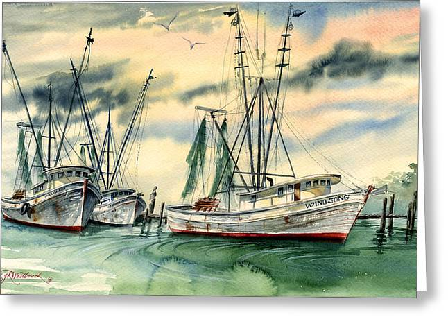Shrimp Boats In The Keys Greeting Card