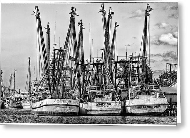 Shrimp Boats Greeting Card by Robert  FERD Frank