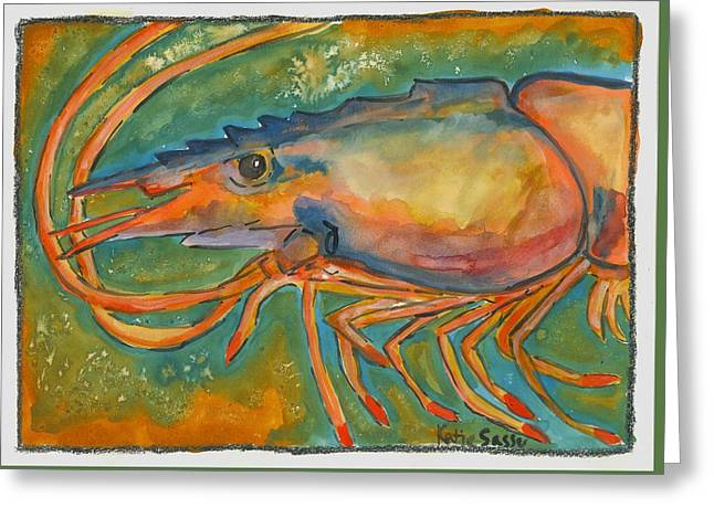Shrimp Head Greeting Card