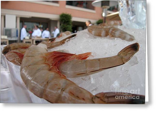 Shrimp On Ice Greeting Card