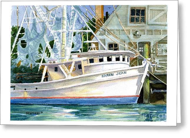 Shrimper Karen Jean Greeting Card