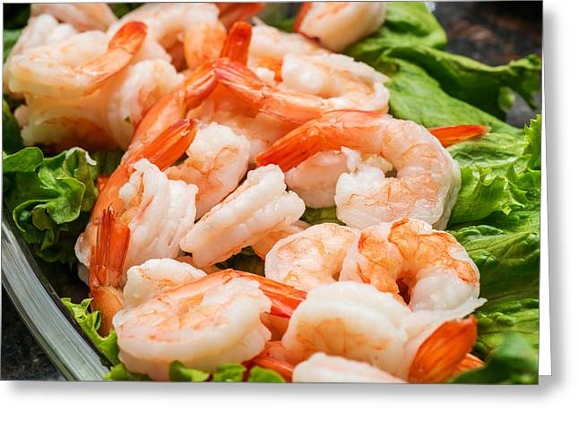 Shrimps On A Plate Greeting Card