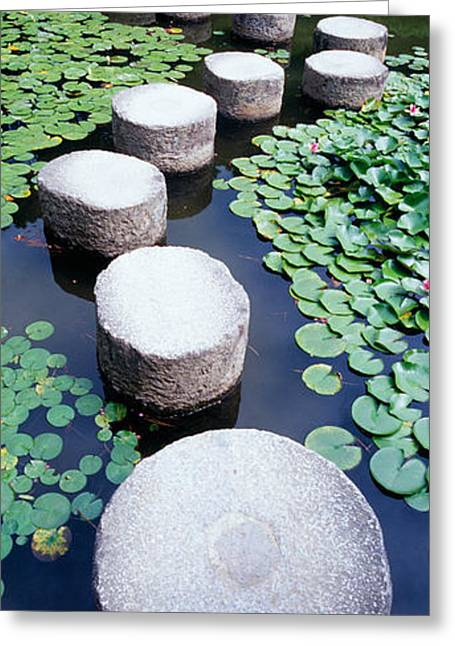 Shrine Garden, Kyoto, Japan Greeting Card by Panoramic Images