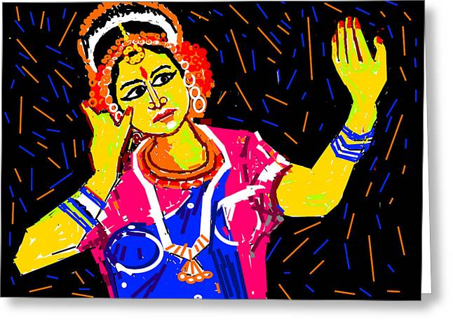 Shringara Rasa Greeting Card by Anand Swaroop Manchiraju