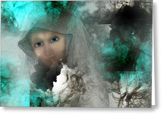 Shroud Of Truth Greeting Card by Patricia Motley