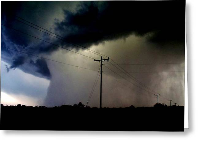Greeting Card featuring the photograph Shrouded Tornado by Ed Sweeney