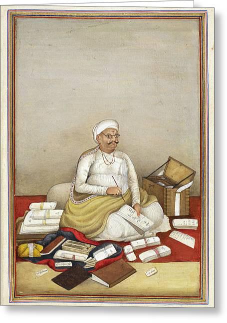 Shudra Accountant Greeting Card by British Library