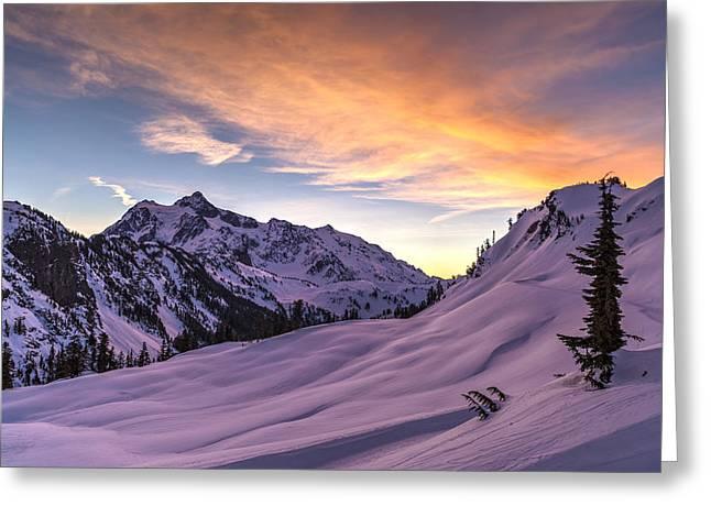 Shuksan Morning Skies Greeting Card by Mike Reid