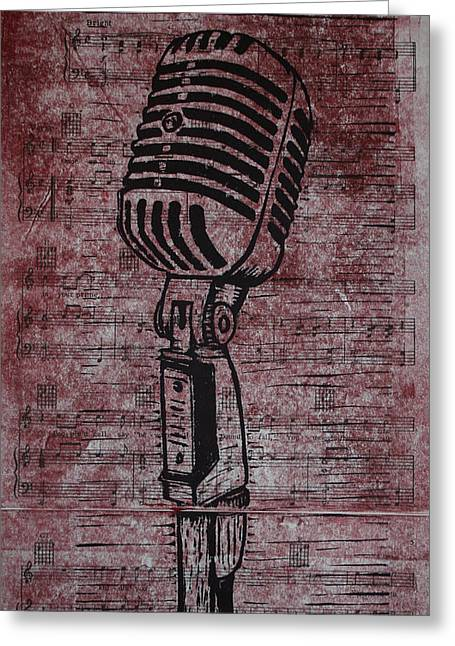 Shure 55s On Music Greeting Card
