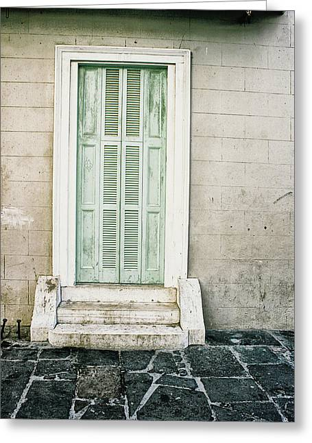 Shuttered Doors Greeting Card by Heather Green