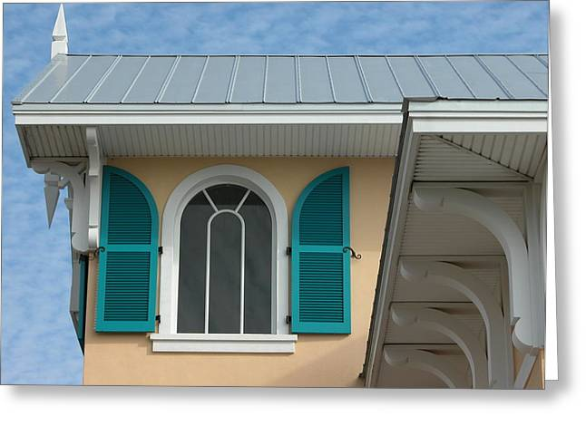 Shuttered Window Greeting Card by Valerie Paterson