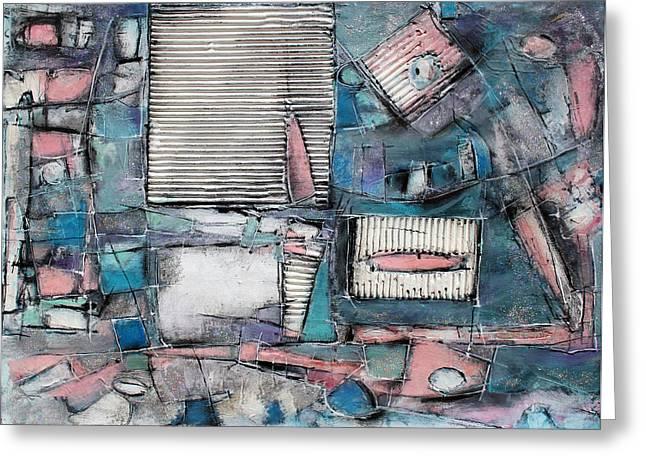 Shuttered Windows Greeting Card by Hari Thomas