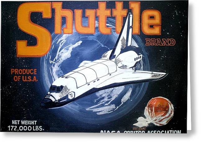 Shuttle Brand Greeting Card by Ric Rice
