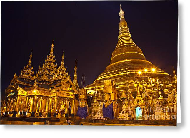 Shwedagon Paya Myanmar Greeting Card by Craig Lovell