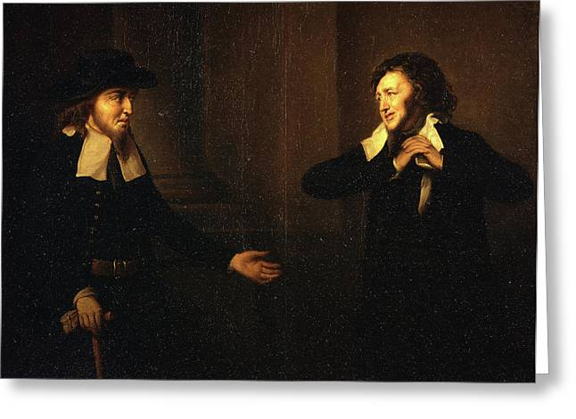 Shylock And Tubal From The Merchant Of Venice Thou Stickst Greeting Card