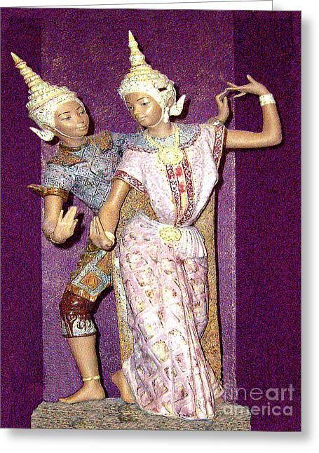 Siam Dancing Figurine Greeting Card