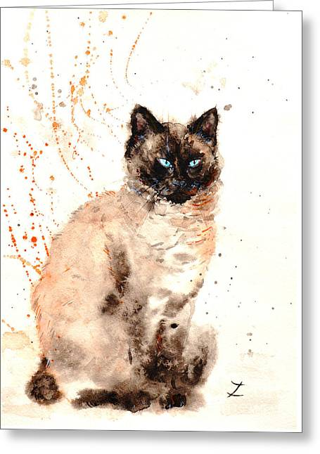 Siamese Beauty Greeting Card