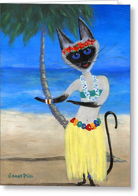 Siamese Queen Of Hawaii Greeting Card