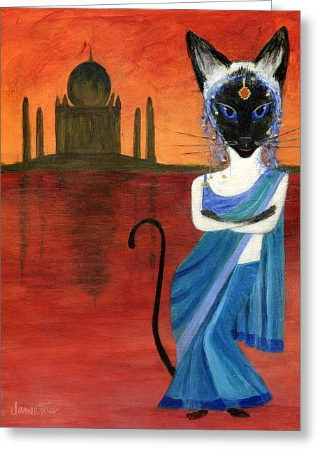 Siamese Queen Of India Greeting Card by Jamie Frier