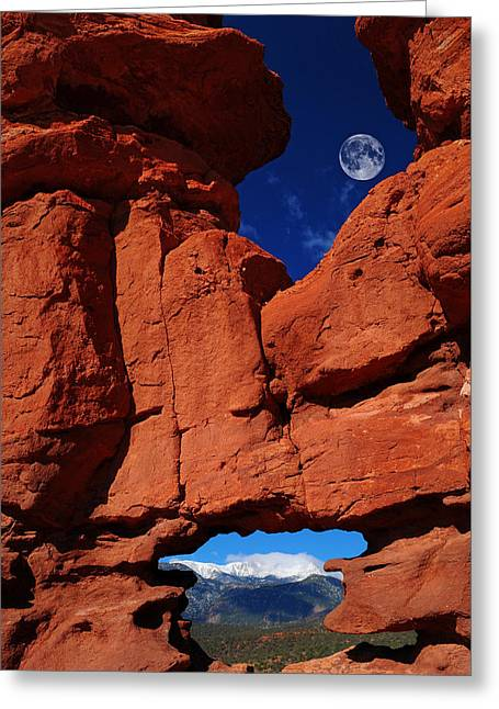 Siamese Twins Rock Formation At Garden Of The Gods Greeting Card