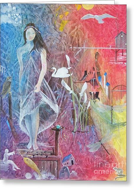 Sian Nia Greeting Card by Jackie Mueller-Jones