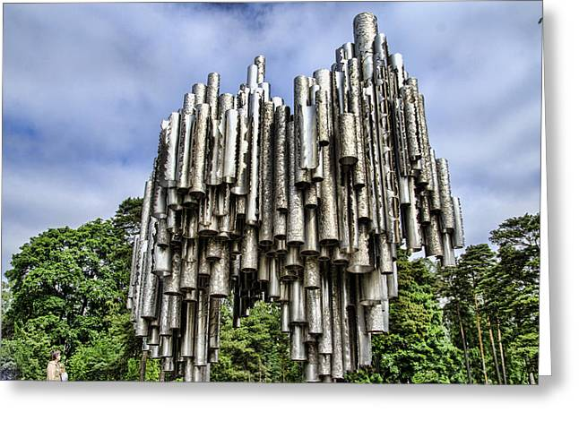 Sibelius Pipe Monument - Helsinki Finland Greeting Card