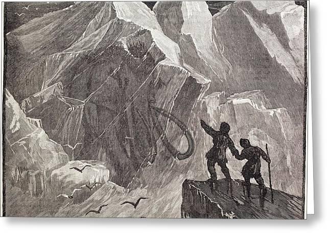 Siberian Frozen Mammoth Greeting Card by Paul D Stewart