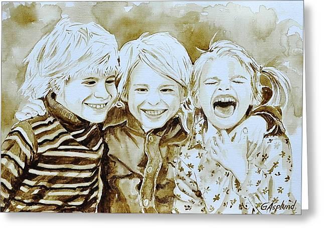 Siblings Fun Greeting Card